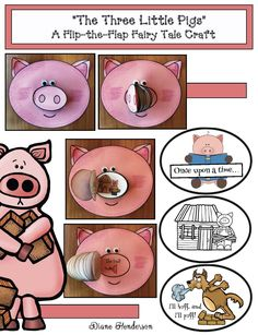 3 little pigs fairy tale activities, 3 little pigs crafts, retelling a story activities, sequencing a story activities 3 Little Pigs Activities, Retelling Activities, Fairy Tale Activities, Letter P Activities, Animal Activities, Preschool Activities, Fairy Tale Crafts, Reading Buddies, Pig Crafts