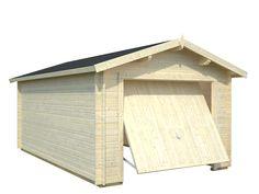 Falls Sie eine kleine Garage für Ihr Auto suchen, ist die Holzgarage 1 von Palmako ideal für Sie. Klein aber fein und dient genau Ihrem Zweck.