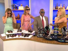 The TODAY show anchors try out some sunglasses for the summer season