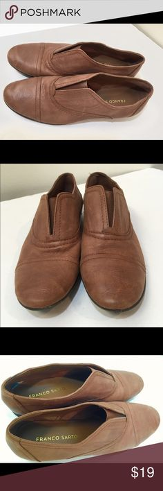 Franco Sarto trendy leather loafers! 7 Franco Sarto. Worn a handful of times. Perfect condition! Franco Sarto Shoes Flats & Loafers