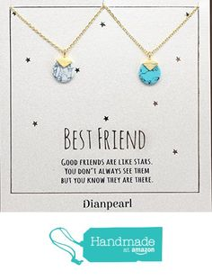 white and blue howlite gemstone necklace, Best friend necklace, BFF Necklace, friendship necklace for 2, Gold dainty necklace, gemstone necklace from DIANPEARL https://www.amazon.com/dp/B06WLJYF4Q/ref=hnd_sw_r_pi_dp_jcrOybY163BAT #handmadeatamazon