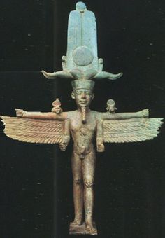 Amón-Ra Ἄμμων Ámmōn, Ἅμμων Hámmōn) was a local deity of ThebesAmun-Ra in this period (16th to 11th centuries BC) held the position of transcendental, self-created creator deity. Note the similarity in the wings with the idols of Babylon!