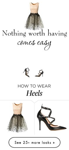 """Truth. Glam and black and sparkle and dress and heels"" by kohlanndesigns on Polyvore featuring Loyd/Ford and Valentino"
