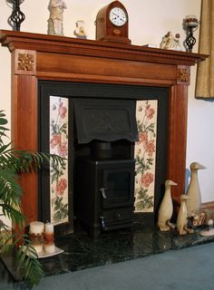 Can You Put A Wood Burning Stove In Victorian Fireplace - Wood Images and Descriptions Wood Burner Fireplace, Small Fireplace, Fireplace Surrounds, Home Living Room, Living Room Designs, Edwardian Fireplace, Interior Design Your Home, Victorian Living Room, Dining Room Office