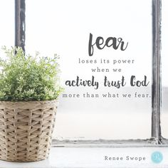 """""""Dear God, help me walk through my fears by facing them instead of being paralyzed by them. I want to take Your hand and trust Your heart with all that is within me. Give me courage today to take the first step. In Jesus' Name, Amen.""""  - Renee Swope 