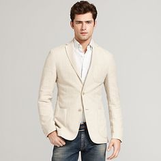Image for COTTON HERRINGBONE BLAZER from Tommy Hilfiger USA