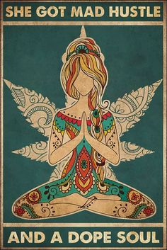 Namaste Art, Girl Posters, Hippie Posters, Hippie Art, Happy Hippie, Love Art, Retro, Art Inspo, Peace And Love