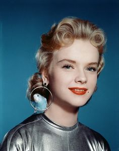 Anne Francis publicity photo for 'Forbidden Planet', 1956.