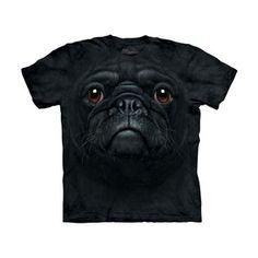 T-Shirt Schwarzer Mops