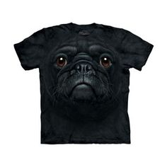 Black Pug Face T-Shirt, 19€, now featured on Fab.