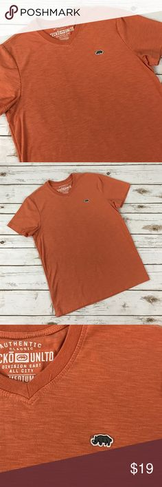 MENS V-Neck Tee Orange v-neck tee in great condition. Ecko Unlimited Shirts Tees - Short Sleeve
