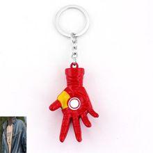 Marvel Comics Super Hero The Avengers Iron Man Energy Hand Model Keychain for Keys Chaveiro Llavero KeyRing Key Holder porte //Price: $US $2.46 & FREE Shipping //    #tonystark #blackwidow