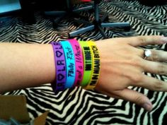 Party paper wristbands on hand
