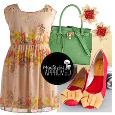 This floral frock looks lovely with bow flats and a bright bag, but would be equally fab with a denim jacket and boots!