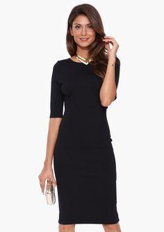 Lexi Midi Dress in Black | Necessary Clothing