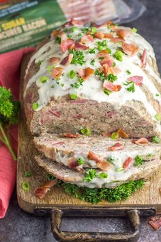 Whole30 Instant Pot Turkey Bacon Ranch Meatloaf