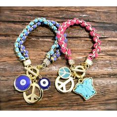 cute peace sign bracelets! <3
