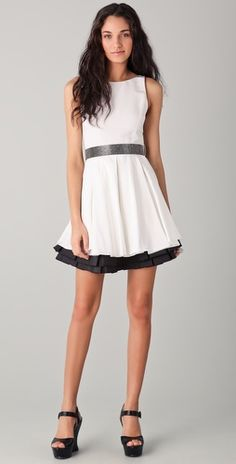 alice + olivia Everly Poof Skirt Dress