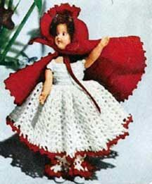 My grandmother and my great aunt used to make dresses for dolls just like this. This site has a bunch great vintage crochet patterns.