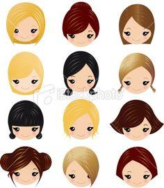little-girls-hairstyles for Felt Dolls