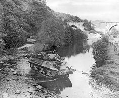 Two American M10 tank destroyers in France during World War II.