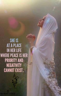 She is at a place in her life where peace is her priority and negativity cannot exist..