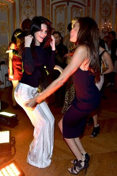Kendall Jenner and Joan Smalls - Paris Fashion Week parties