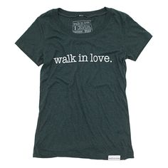 walk in love. Emerald Women's T-Shirt | walk in love.