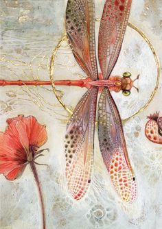 insects Stephanie Law - watercolor painter, botanical illustrator and artist of fantastical dreamworld imagery. Dragonfly Art, Dragonfly Tattoo, Dragonfly Painting, Silk Painting, Painting & Drawing, Painting Inspiration, Art Inspo, Motifs Art Nouveau, Illustrator