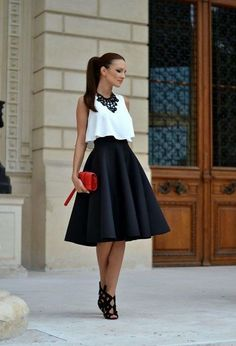 Elegant Skirt Outfit, Copy This Style #partydresses