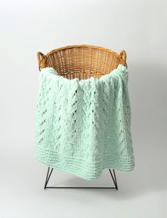 This quaint baby blanket knitting pattern makes a charming addition to any baby& nursery. The delicate lacework combined with the soft mint hue of the Soft Vines Baby Blanket gives off a pleasant, soothing vibe. Baby Knitting Patterns, Baby Patterns, Free Knitting, Baby Blanket Knitting Pattern Free, Sweater Patterns, Heart Patterns, Knitting Needles, Knitting Yarn, Crochet Patterns