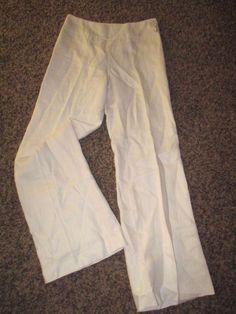 Lauren Ralph Lauren Linen Pants Women's 4 White (green label) #RalphLauren #Linen