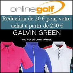 #missbonreduction; Remise de 20€ à partir de 250€ de commandes.Hors marque Galvingreen & Dernieres nouveautéshttp://www.miss-bon-reduction.fr//details-bon-reduction-Online-Golf-i852928-c1831202.html