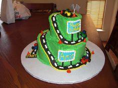 Go kart bday cake. Party Themes, Party Ideas, Birthday Parties, Birthday Cake, Karting, Go Kart, Birthdays, Cakes, Desserts