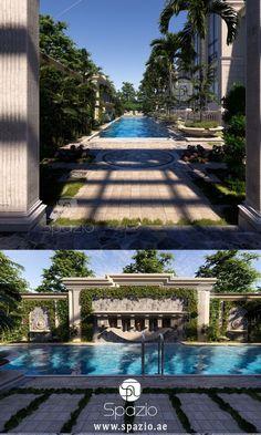 Fine great interior design video by designers Interior Design Videos, Interior Design Companies, Garden Landscape Design, Garden Landscaping, Palace, Architecture Design, Mansion Designs, Style Royal, Companies In Dubai