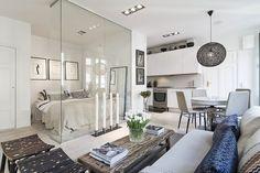 Un pequeño y estiloso apartamento en Estocolmo