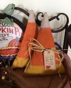 Primitive candy corn shelf sitterslarge by CraftsbyNa on Etsy