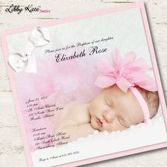 Photo Baptism Invitation Photo Christening Invitation