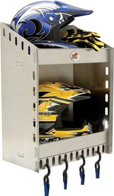 Phoenix USA Two Helmet Aluminum CORNER Storage Shelf - Aluminum - Motorcycle - The Garage Store
