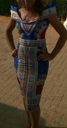 African Kroo Dashiki Dress by MsAlaba on Etsy