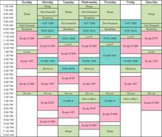 Printed weekly schedule template - fit in school, sport ...