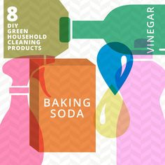 8 DIY Green Household Cleaning Products #OrganicLiving