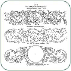 Leather Tooling Pattern Oak & maple mantels patterns