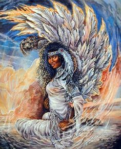 Enliven your living space with this Hawk Maiden Native American Indian art print poster. This beautiful art goes well in any room. This charming piece of art captures the image of Hawk Maiden which is sure to grab lot of attention. Your guests will definitely compliment you for your excellent taste. It will be a nice gift for your family and friends. It would also make a great gift for art lovers.