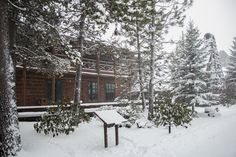 Sunriver Resort Great Hall in the snow. www.sunriver-resort.com
