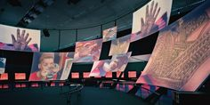 Voices, Universal Forum for World Cultures Barcelona Spain, Ralph Appelbaum Associates Exhibition Plan, Exhibition Space, Museum Exhibition, Led Video Wall, Sensory Art, Visual Communication Design, Projection Mapping, Light And Space, Stand Design