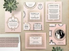 Pretty in pink Parisienne wedding from minted.com.
