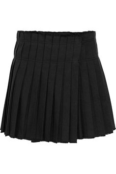 isabel marant mini jupe en coton plisse kib net a porter