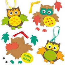 Buy Leafy Owl Decoration Kits at Baker Ross. Owl foam hanging decorations to make and display. Each kit contains a foam base, self-adhesive foam pieces, wiggle-eyes and ribbon. Rainy Day Activities For Kids, Craft Activities, Owl Crafts, Crafts To Sell, Diy Thanksgiving, Bullet Journal Art, Autumn Crafts, Craft Club, Fall Diy