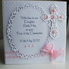 Handmade Personalized First Holy Communion Card for a Girl by CraftyAudrey on Etsy